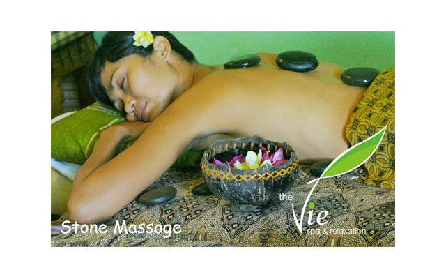Spa Seminyak - The Vie Spa : stone massage