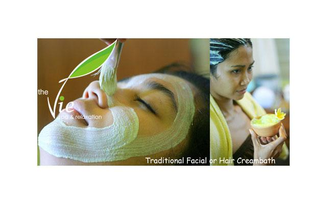 Spa Seminyak - The Vie Spa : traditional facial & hair treatment