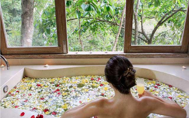 Resort in Ubud-Kayon Resort Ubud-View from Bath