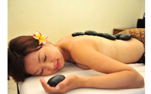 Spa Nusa Dua - Sakura Bali Spa : hot stone massage