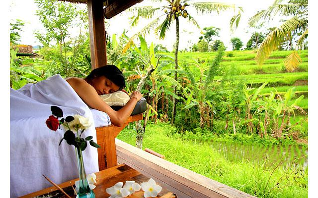 Spa Karangasem - Sawah Indah Spa : body treatment open air
